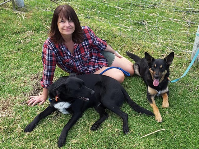 Rhonda with her dogs